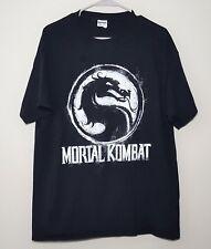 Mortal Kombat T-Shirt | Black & White Paint Logo | Mens XL