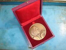 MEDAILLE BRONZE CONTAUX Offert par Cie Françaises des GRANDS VINS  -French Medal