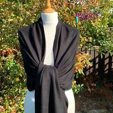 Black Pashmina Wrap Ladies Cashmere Blend Shawl Large Scarf Wedding