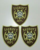 "THE WALKING DEAD SHERIFF BADGE EMBR. PATCH set of (2) 3 3/4"" wide by 4 3/4"" tall"