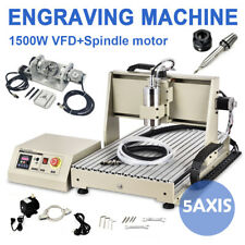 USB 5 Axis CNC 6040 Router Engraver Engraving carving Drilling Machine 1500W VFD