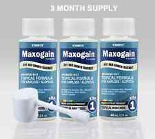 3 Month Mens Maxogain 4in1 Topical Minoxidil DHT Hair Growth Compare to Rogaine