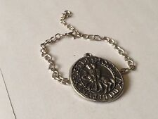 Templar Seal code dr70  Emblem Made From English Pewter on a Anklet / Bracelet