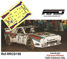 DECAL/CALCA 1/43; Lancia 037; Toivonen-Pironen; Rally Catalunya 1985