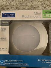 Progress Lighting 7.5-in White Transitional LED Flush Mount Light ENERGY STAR