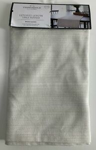 """THESHOLD 14"""" x 108"""" Table Runner NEW IN PACKAGE Extended Length Beige"""