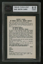 1962-63 PARKHURST ~ NNO ~ ENTRY CARD-ZIP BUBBLE GUM NHL HOCKEY CONTEST ~ KSA 8.5