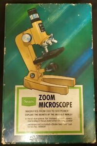 Vintage Sears Zoom Microscope 100 to 600 Power 49-24034 Made in Japan