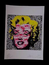 "Serigraphie Originale signée Raw  "" Marilyn Monroe / Keith Haring "" .. Death Nyc"