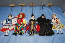 Vintage Lot of 5 Czech Marionettes Handmade - M3673
