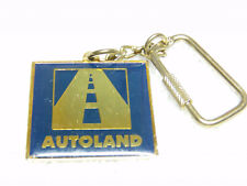 VINTAGE BLUE AND GOLD PAVED ROAD, AUTO LAND, KEY CHAIN
