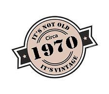 Non è vecchio intorno al 1970 ROSETTA Emblema PER CASCO DA MOTO AUTO ADESIVO VINILE