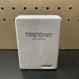 Original TRENDnet TPL-401E 500 Mbps Powerline Ethernet AV Adapter White - USA