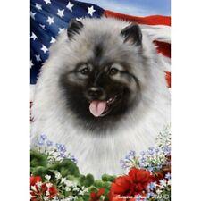 Patriotic (1) House Flag - Keeshond 16017