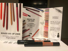 2 X Sephora Rouge Gel Lip Liner 02 Nothin' But Nude 0.25 g 0.0088 oz Sample New
