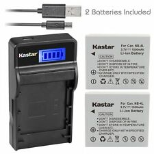 NB-4L Battery&Slim LCD Charger for Canon PowerShot ELPH 300 HS, 310 HS, 330 HS