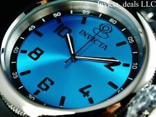 Invicta Men's 52mm RUSSIAN DIVER Swiss Ronda Quartz Cyan Dial Silver Tone Watch