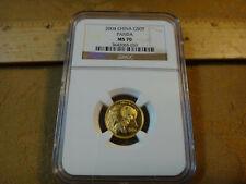 2004 China 50Yn 1/10 Oz Gold Panda NGC Graded MS70 Rare - Free S&H USA