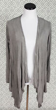 Womens Saint Tropez West Gray Top Long Sleeve Cover Blouse Shirt Sz Medium M St
