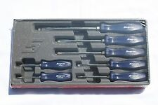 Snap On 7 Piece Rare Blue Hard Handle Combination Screwdriver Set New