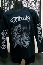 gloom dbeat crust punk DISCHARGE band t shirt long sleeve M size backpatch lot