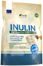 Inulin prebiotischer Faser Pulver 1Kg von Natur Chicorée 100% Garantie