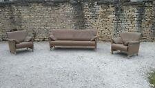 Canapé et deux fauteuils De Sede DS 14 cuir taupe
