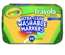 Crayola Classic Trayola Washable Markers, Fine Tip, Assorted Colors, Set of 48