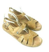 Jesef Seibel Womens Airped Plus Sandals Sz 42 Tan European Comfort Shoes