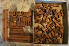 """VINTAGE 147 Pieces Lincoln Logs - Mostly 1 1/4"""" (138)"""