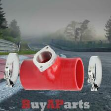 """Red 3"""" Type RS Turbo BOV Blow Off Valve Silicone Coupler + 3"""" T Bolt Clamps"""