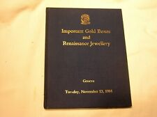 Jewelry, Christie'S Auction Geneva 1984 Important Gold Boxes And Renaissance
