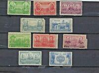 785-794 Army-Navy set of 1936-1937 Mint, Original Gum, Never Hinged