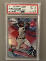 Ronald Acuna PSA 10 Gem 2017 Bowman Best Refractor Rookie Card 1st Year RC