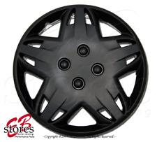 "One Set (4pcs) of Matte Black 14 inch Rim Wheel Skin Cover Hubcap 14"" Style#509"