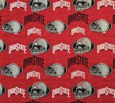 "Ohio State University OSU Buckeyes 100% Cotton Fabric 1/2 Yd 18""x44"" Helmets"