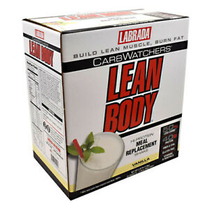 Labrada Carb Watchers Lean Body 20pk Hi Protein Meal Replacement 20 Packets New
