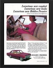 "1965 HD HOLDEN PREMIER SEDAN AD A3 FRAMED PHOTOGRAPHIC PRINT 15.7""x11.8"""