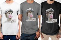 Vaporwave Roman Greek Bubble Gum Statue Trendy Dope Men's Cotton T-shirt Top Tee