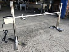NEW STAINLESS STEEL PORTABLE TRIPOD BBQ SPIT ROTISSERIE