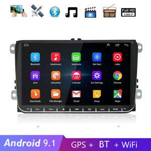 "9"" Android Autoradio GPS Navi BT Wifi für VW GOLF 5 Passat Touran Polo EOS Skoda"