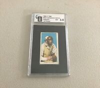 1909-11 T206 - Red Kleinow - NY Catcher Position Piedmont 350 - Graded 3.5 - VG+