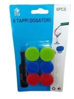 ds Set 6 Tappi Colorati Plastica Bottiglie Di Vino moc