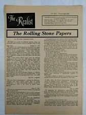 The Realist Newspaper No. 92-B March-April 1972 Rolling Stone Papers SAEE08