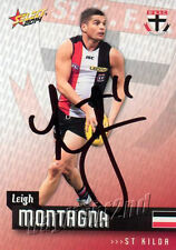 ✺Signed✺ 2014 ST KILDA SAINTS AFL Card LEIGH MONTAGNA