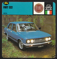 1972-1978 FIAT 132 Car Picture Photo History Fact AUTO RALLY CARD