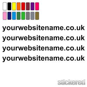 4 x WEBSITE ADDRESS NAMES FOR CAR / VAN / WINDOW / SHOP VINYL STICKERS / DECALS