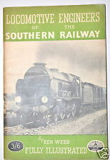 LOCOMOTIVE ENGINEERS OF THE SOUTHERN RAILWAY Book London 1946 4 Train Railway