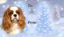 Cavalier King Charles Christmas Labels-Starprint No 4 - Auto combined postage