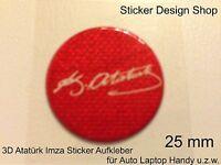 3D Atatürk Imza Sticker Aufkleber Auto Laptop Handy Selbsklebend Türkiye Neu Rot